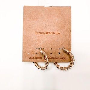 Brandy Melville gold dainty earrings